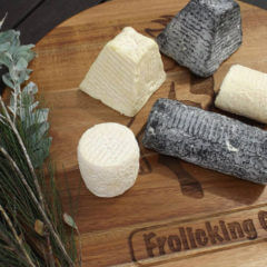 Sample French-style goats cheese at Milton Markets
