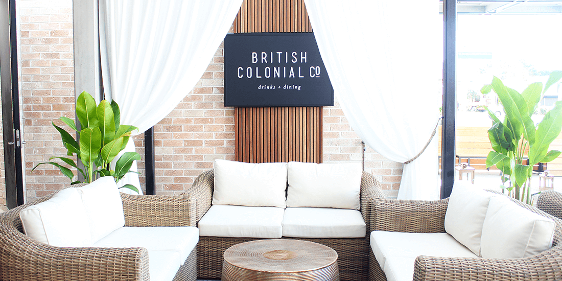 Relax in the breezy atmosphere of Hawthorne's British Colonial Co.